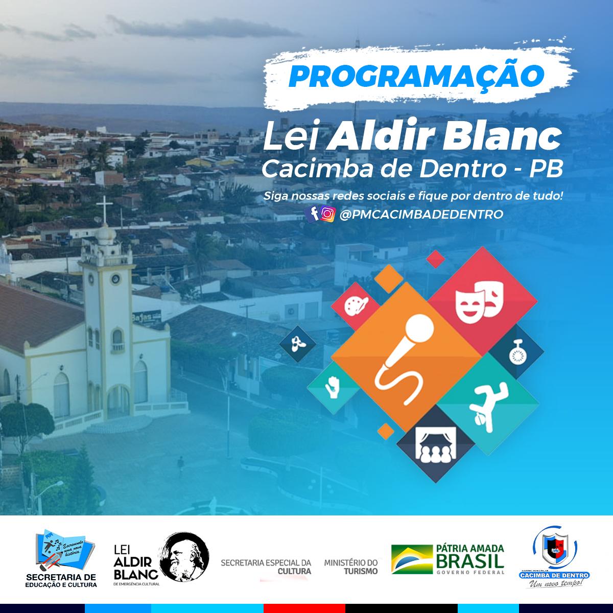 PMCD anuncia programação do Projeto Lei Aldir Blanc