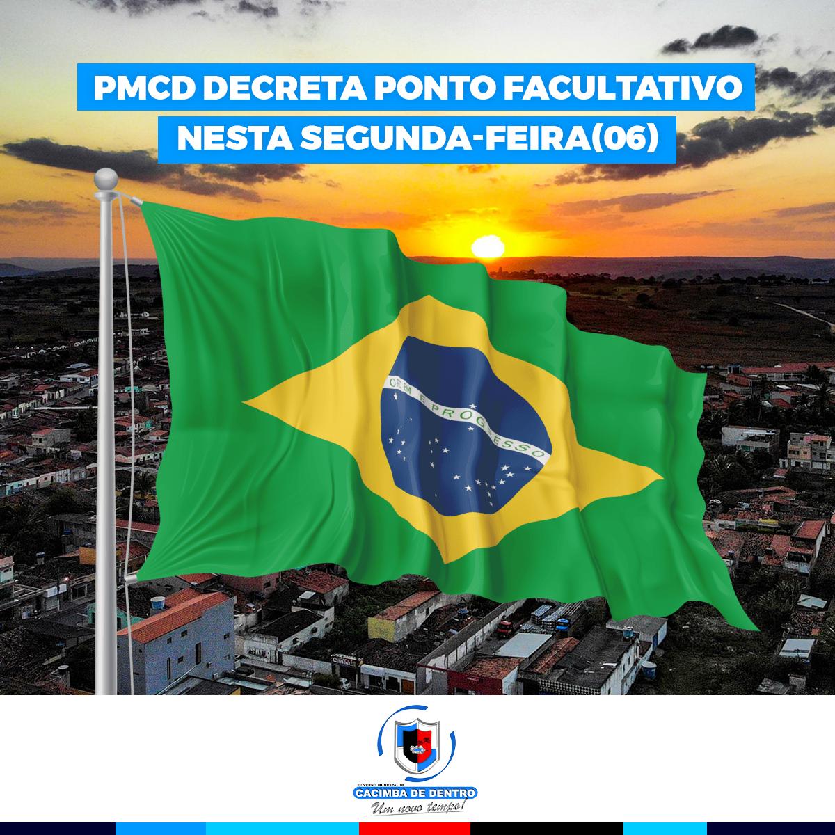 DECRETO Nº0137/2021 PONTO FACULTATIVO NO DIA 06 DE SETEMBRO DE 2021 EM VIRTUDE DAS COMEMORAÇÕES ATINENTES À INDEPENDÊNCIA DO BRASIL
